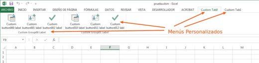 Menús personalizados en Excel [VBA]